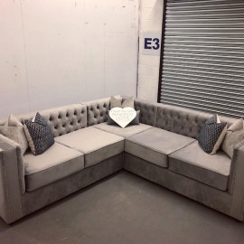 grey color sofa in l shape design for pakistan islamabad