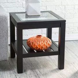 wooden brown side table
