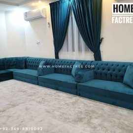 green sofa for ground seating
