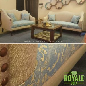 french modern sofa in blue and grey