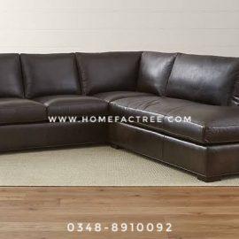 leather brown corner sofa