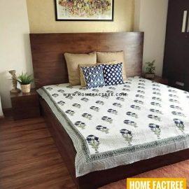 brwon sheesham bed