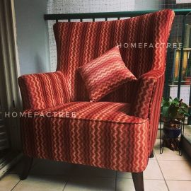 african accent chair