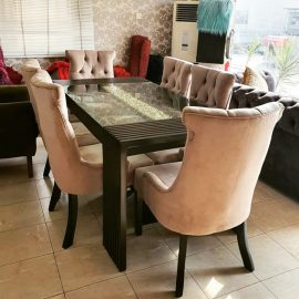 plush dining chairs