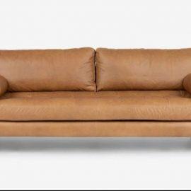 leatherite sofa rust